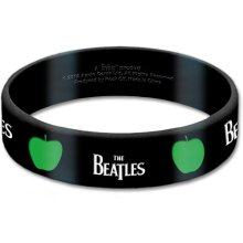 The Beatles Gummy Band: Drop T & Apple Black And White Bracelet Official