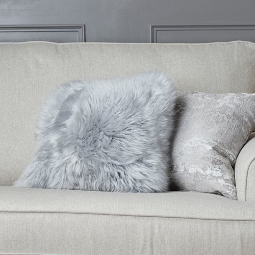 New Zealand Steel Doubled-Sided Sheepskin Cushion 35cm x 35cm