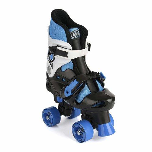 Xootz Kid's Quad Skates, Blue/Black/White Roller Skates, Size 3 - 5
