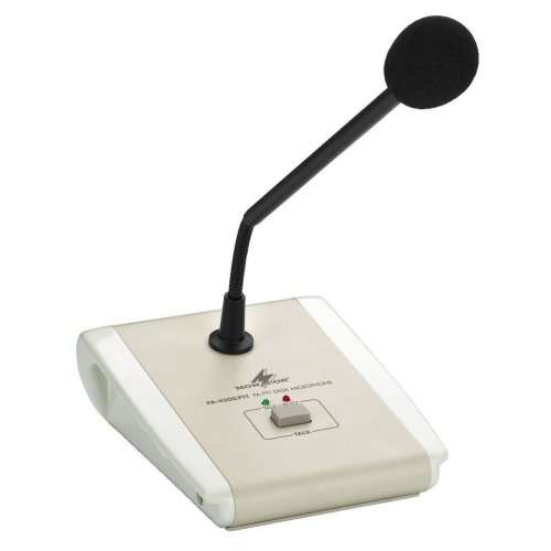 PA Desk Microphone - Pa Desktop Microphone (push-to-talk)