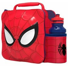 St360 - 3d Lunch Bag With Bottle - Spiderman - Set Box Marvel Ultimate New -  spiderman 3d lunch bottle set box bag marvel ultimate new thermal drink