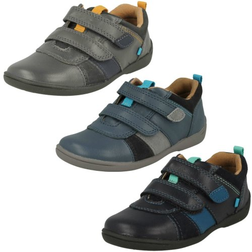 Boys Startrite Casual Hook and Loop Shoes Grip - F Fit