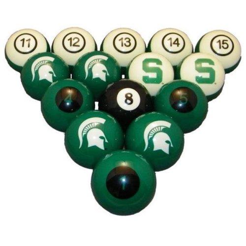 Wave7 MSUBBS100N Michigan State University Billiard Numbered Ball Set