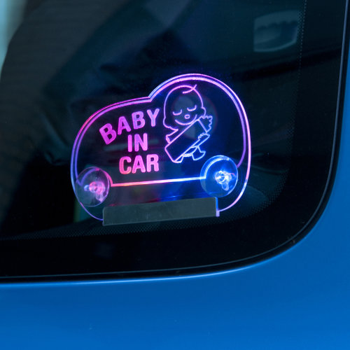 Light Up Baby In Car Bumper Window LED Flashing Safety Sticker Sign