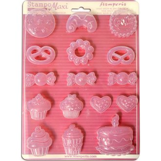 """Stamperia Soft Maxi Mould 8.5""""X11.5""""-Cookies"""