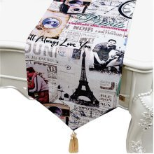 33*200 CM Table Runners Retro Tablecloths British style Coffee Table Cloth