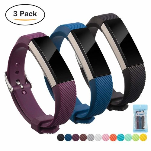 Fitbit Alta Band, Fitbit Strap HR Silicon, Digitek Strap Bands for Fitbit, Fashion Wristband Accessory Newest Watchbands with Adjustable Metal...