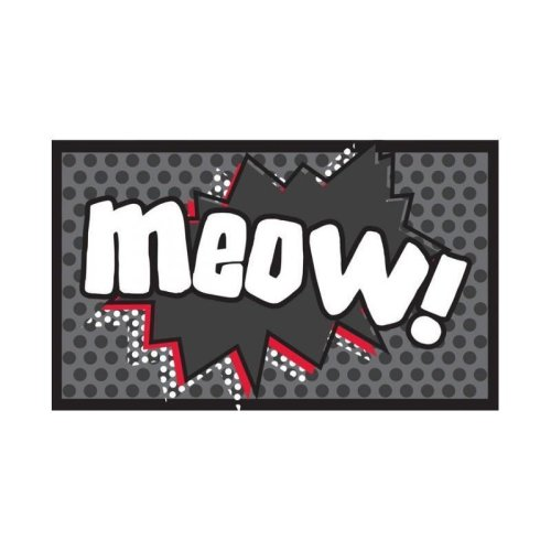 Meow Cartoon Cat Food Mat - Pet Rebellion Dinner Mate 40 x -  pet meow rebellion mat dinner food mate cat 40 x