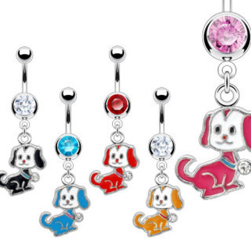 Puppy Dangle Belly Bar
