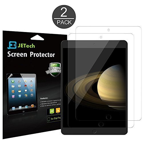 JETech 0339- Screen Protector for Apple iPad Pro 12.9 (2015 and 2017 Model), PET Film, 2-Pack