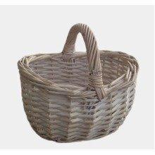 Shopping Basket Small White Shopper