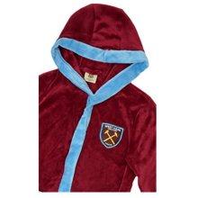West Ham Mens Bath Robe - L - United Large Crest Gift Fan Warm Officia Licensed -  west ham united bath robe large crest gift fan warm official