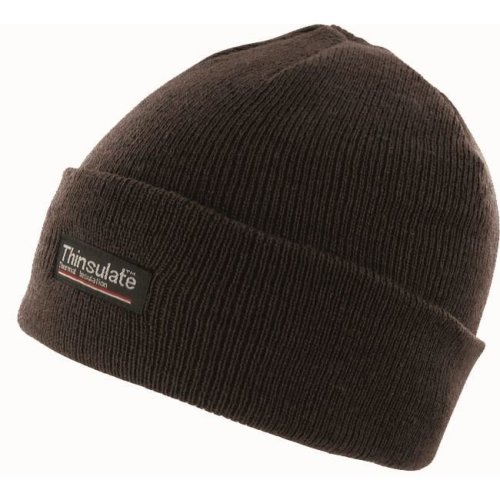 11b8258e917 Black Thinsulate Ski Beanie Hat - hat thinsulate beanie black mens ski knit  winter layer thermal warm on OnBuy
