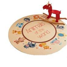 Round 80 CM Child Rugs Play Carpet Chair Cushion Swivel Chair Cushion-A40