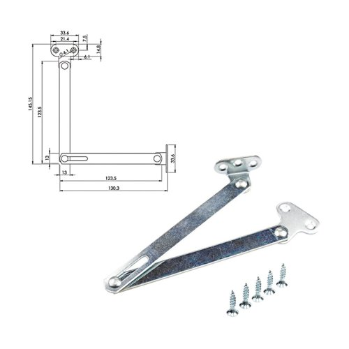 NEW Brake flap stay Open the control panel Flap hinge for Fold wooden door
