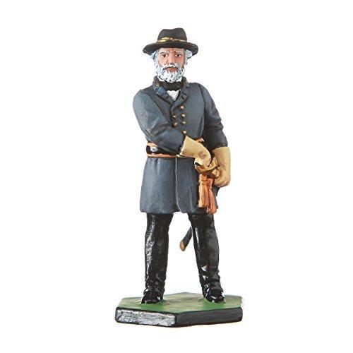 danila-souvenirs Tin Toy Soldier US Civil war Confederates General Robert Lee hand painted metal sculpture miniature figurine 54mm CW07