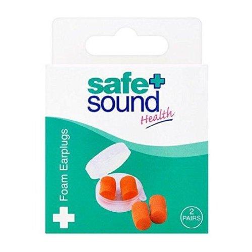 Safe & Sound Foam Earplugs - 2 Pairs