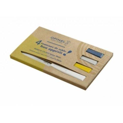 Opinel Bon Appetit 4 Piece Table Knife Box Set - Celeste