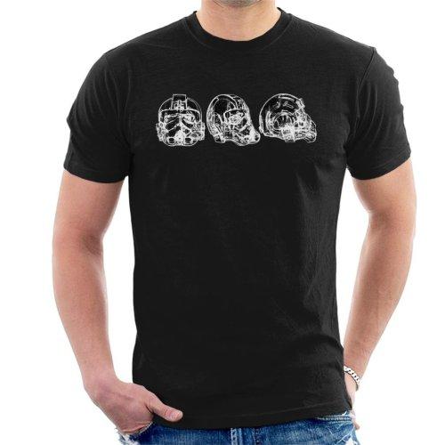 Original Stormtrooper Imperial TIE Pilot Helmet Abstract Men's T-Shirt