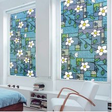 1Pcs 3D Sunscreen Window Flower Stained Glass Film Sticker Home Privacy Decor