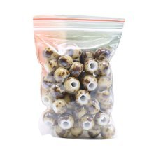 [L] 100 Pcs Ceramic 6mm Beads for DIY Craft/Necklace/Bracelet-Dessert