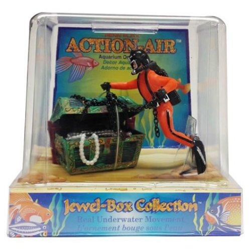 Penn Plax Action Air Diver & Treasure Chest