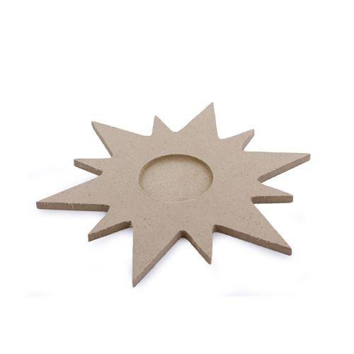 Wooden Sun / Star Shaped Lea Light Holder for 1 Tea Light - 15cm