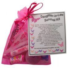 Daughter-in-Law Survival Kit Gift  - Great present for Wedding, Birthday, Christmas or just because...