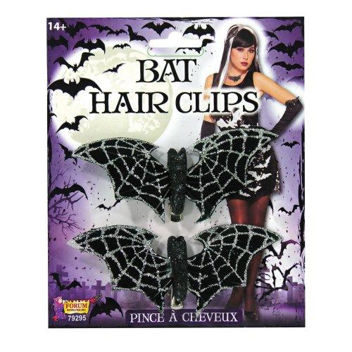 Bat Hair Clips Glitter