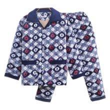 Men Pajamas Warm Thick Cotton Winter Suit Modern Set Sleepwear/Nightwear Clothes for Home, C8