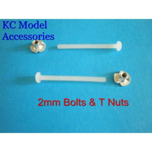 2mm NYLON BOLTS & T NUT FASTENERS x 2