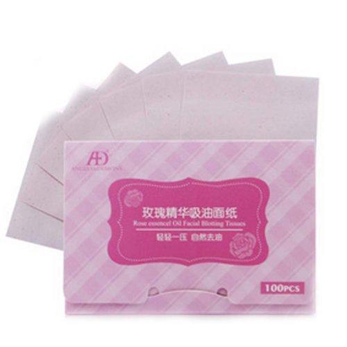 Set of 2 Rose essence Oil Control Paper Oil Blotting Paper(100 Pcs)