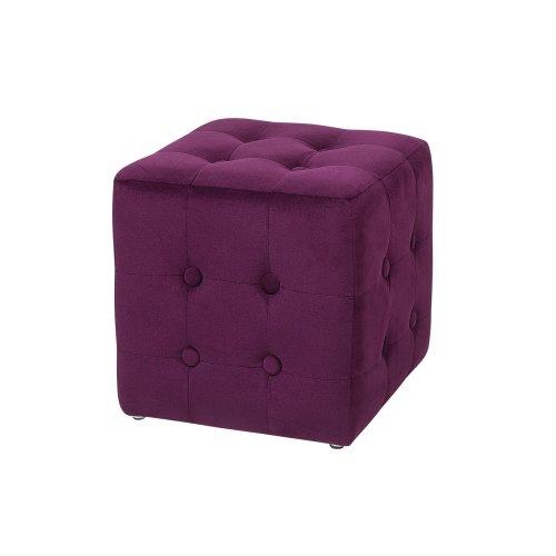 Pouffe Footstool Dark Purple WISCONSIN