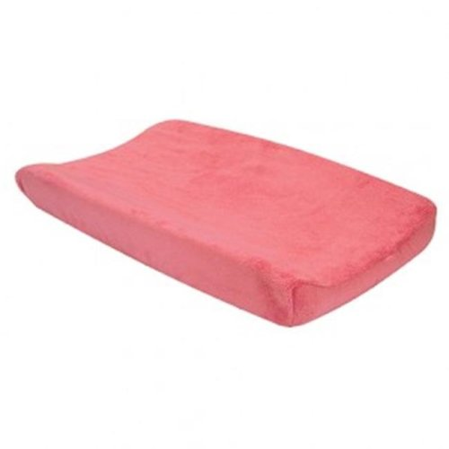 Trend Lab 109946 Cocoa Coral Plush Changing Pad Cover - Pink