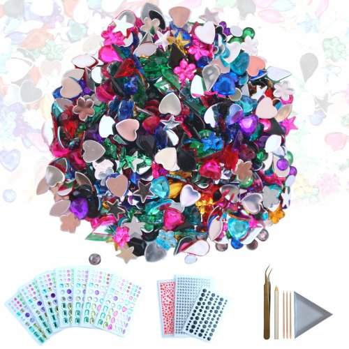 CozYours Self-Adhesive Rhinestone Stickers & Gems, 1080/600 Pack