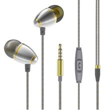 Wired Metal In Ear Noise Isolating Headphones Stereo Bass Headset-A1