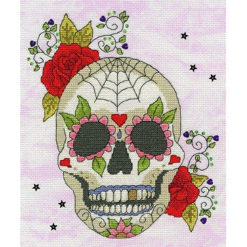 Bothy Threads Cross Stitch Kit - Sugar Skull - developed from art work by Bothy Designs XBD8