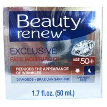 Beauty Renew 50+ Exclusive Day & Night Face Moisturizer Cream Diamonds and Brazilian Saphire