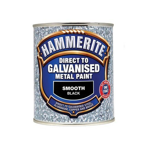 Hammerite DGBK750 Direct To Galvanised Metal Paint Black 750ml
