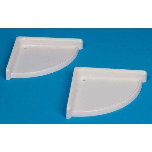White plastic Set Of 2 Corner Shelves