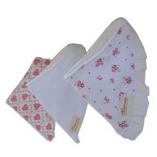 Lovely Feeding Bandana Bibs for Babies and Toddlers Set of 3(rose)
