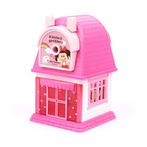 Kids Cute  Manual Pencil Sharpener For Classroom School Stationery,a little girl