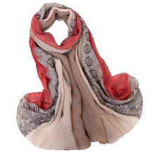 Fashion Scarves Winter Warm Cotton&Linen Scarf Infinity scarf,Red