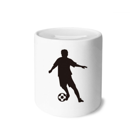 Soccer Sports football FSilhouette Money Box Saving Banks Ceramic Coin Case Kids Adults