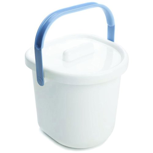 Neat Nursery Company Nappy Pail and Lid - White/Blue
