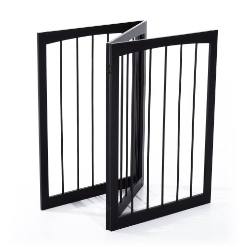 PawHut Folding Dog Safety Gate | 3 Panel Dog Fence