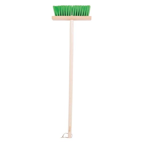 Bigjigs Toys Children's Long Handled Gardening Brush with Wooden Handle - Garden Tools and Accessories