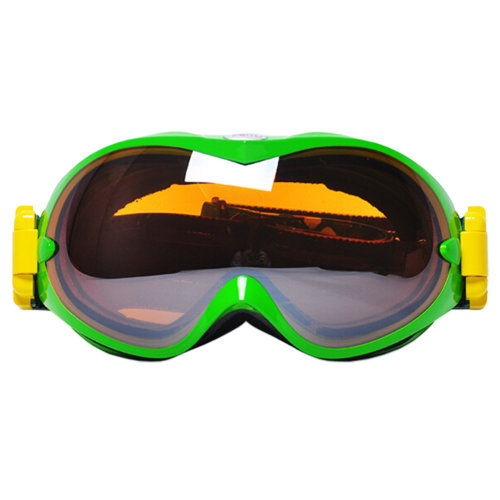 Professional Spherical Lenses Snowboard Ski Goggles Anti-fog Eyewear Green