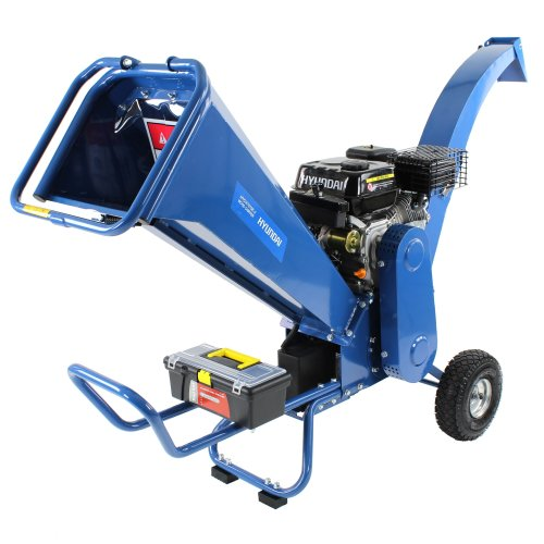 Hyundai HYCH7070E-2 7hp Petrol Powered Electric Start Heavy Duty Wood Chipper