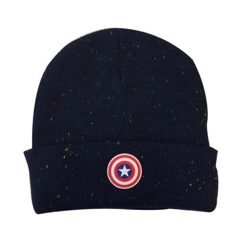 Marvel Captain America Beanie hat with Shield Logo One Size (KC141006CAP)